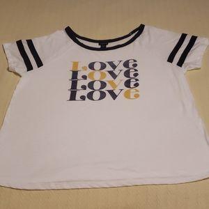 "Torrid ""Love"" graphic tee size 2"